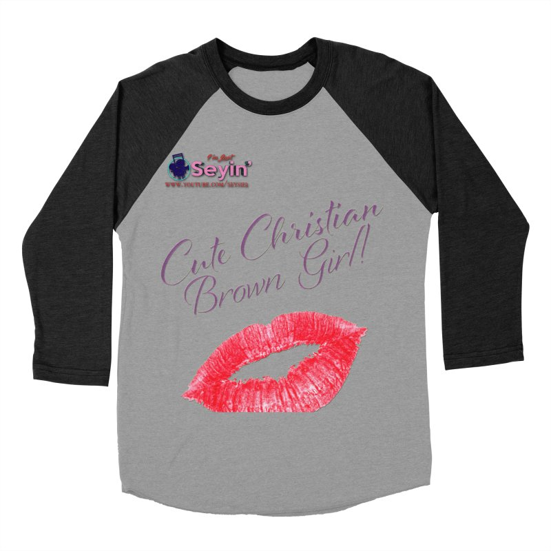 Cute Christian Brown Girl Women's Baseball Triblend Longsleeve T-Shirt by I'm Just Seyin' Shoppe
