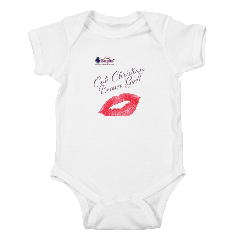 Cute Christian Brown Girl Kids Baby Bodysuit by I'm Just Seyin' Shoppe