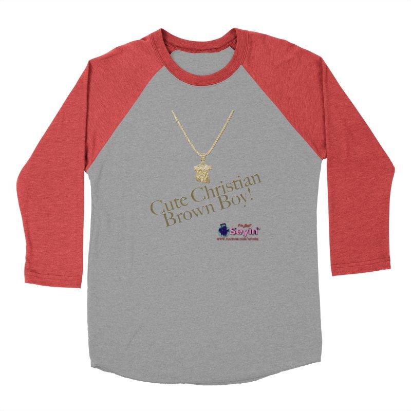 Cute Christian Brown Boy Men's Longsleeve T-Shirt by I'm Just Seyin' Shoppe