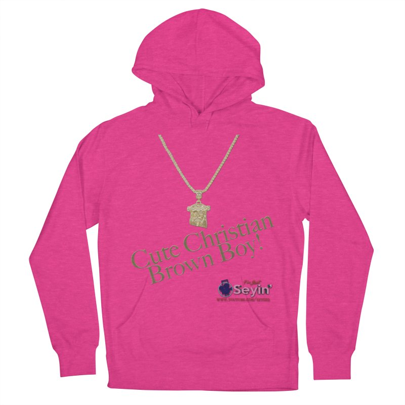 Cute Christian Brown Boy Women's French Terry Pullover Hoody by I'm Just Seyin' Shoppe
