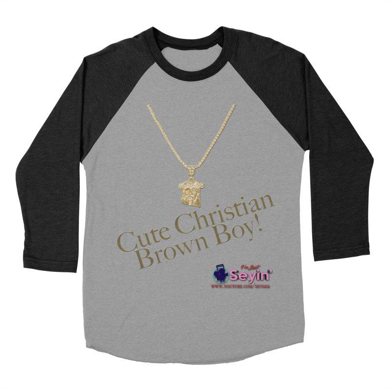 Cute Christian Brown Boy Women's Baseball Triblend Longsleeve T-Shirt by I'm Just Seyin' Shoppe