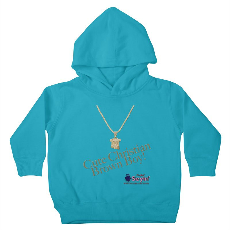 Cute Christian Brown Boy Kids Toddler Pullover Hoody by I'm Just Seyin' Shoppe