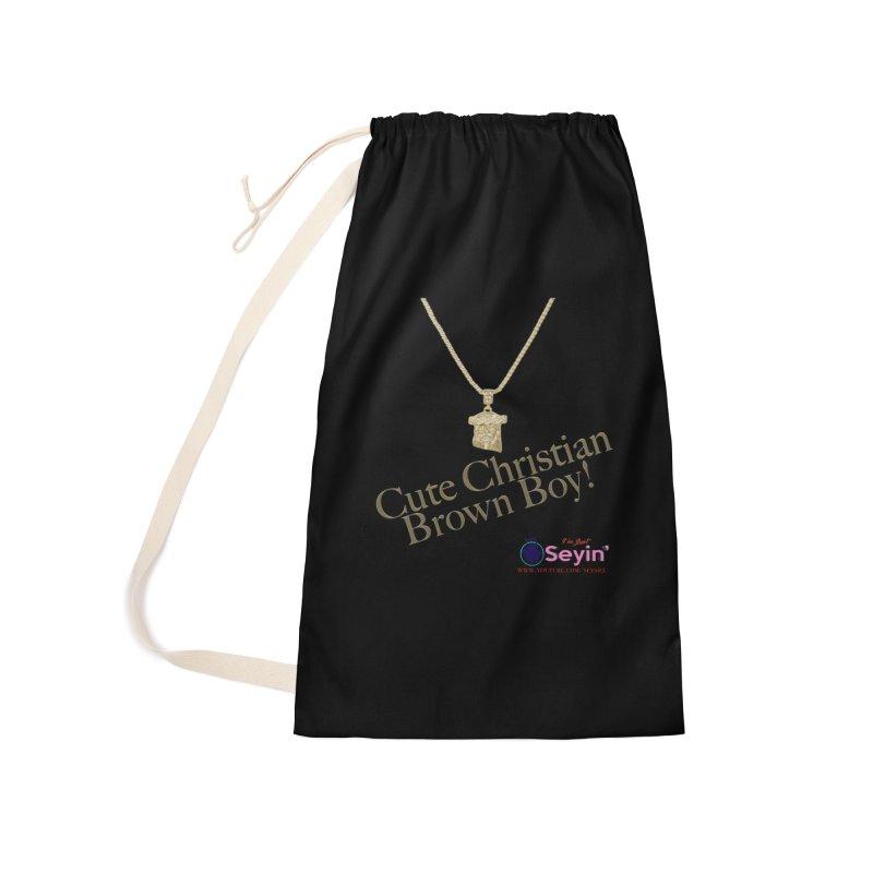 Cute Christian Brown Boy Accessories Bag by I'm Just Seyin' Shoppe