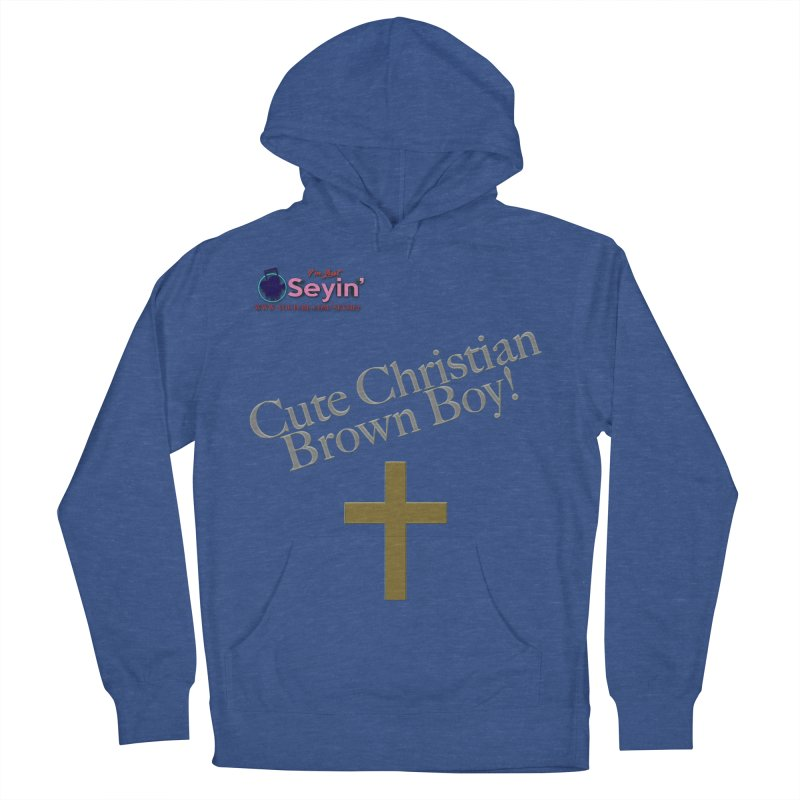 Cute Christian Brown Boy 2 Women's French Terry Pullover Hoody by I'm Just Seyin' Shoppe
