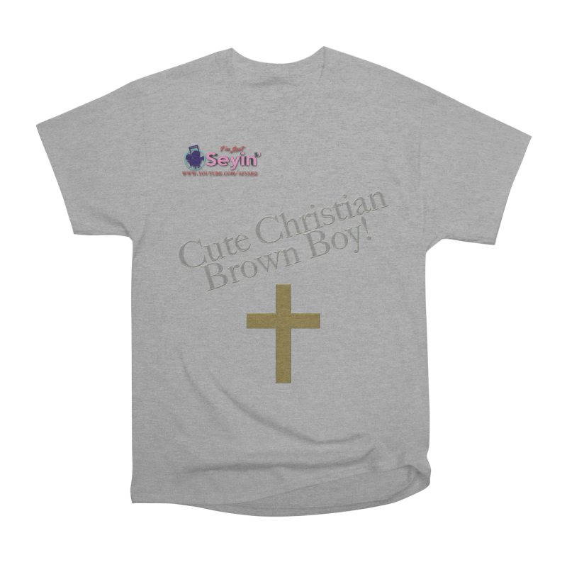 Cute Christian Brown Boy 2 Men's Heavyweight T-Shirt by I'm Just Seyin' Shoppe