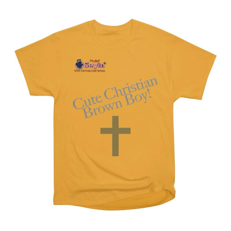 Cute Christian Brown Boy 2 Women's T-Shirt by I'm Just Seyin' Shoppe