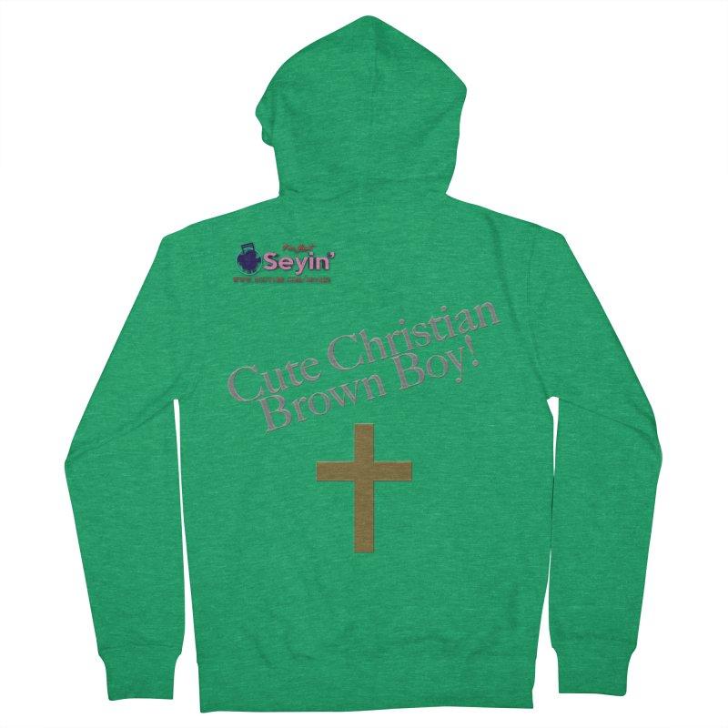 Cute Christian Brown Boy 2 Women's Zip-Up Hoody by I'm Just Seyin' Shoppe
