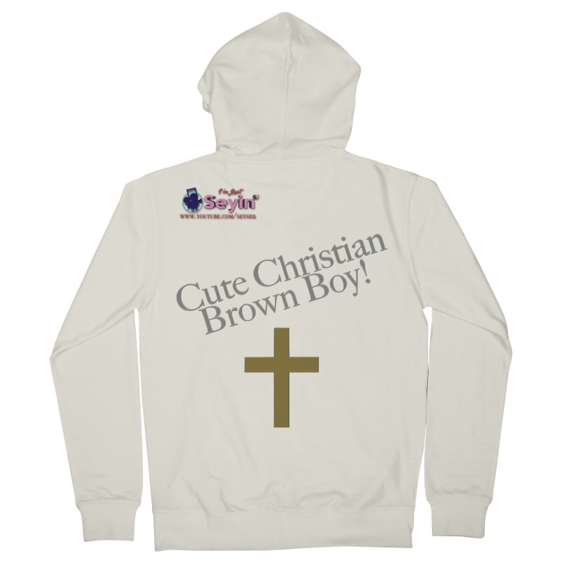 Cute Christian Brown Boy 2 Men's French Terry Zip-Up Hoody by I'm Just Seyin' Shoppe