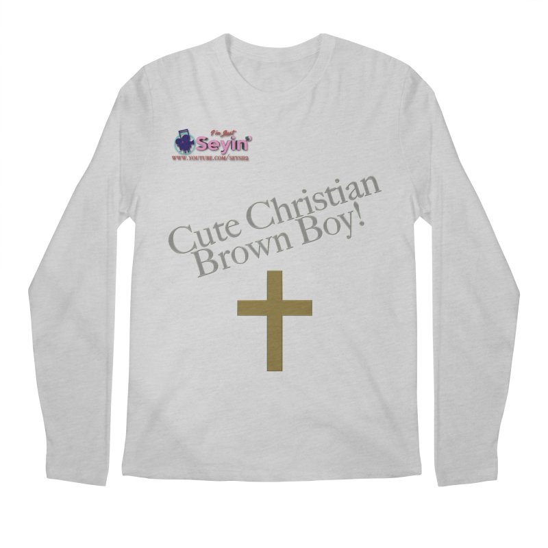 Cute Christian Brown Boy 2 Men's Regular Longsleeve T-Shirt by I'm Just Seyin' Shoppe
