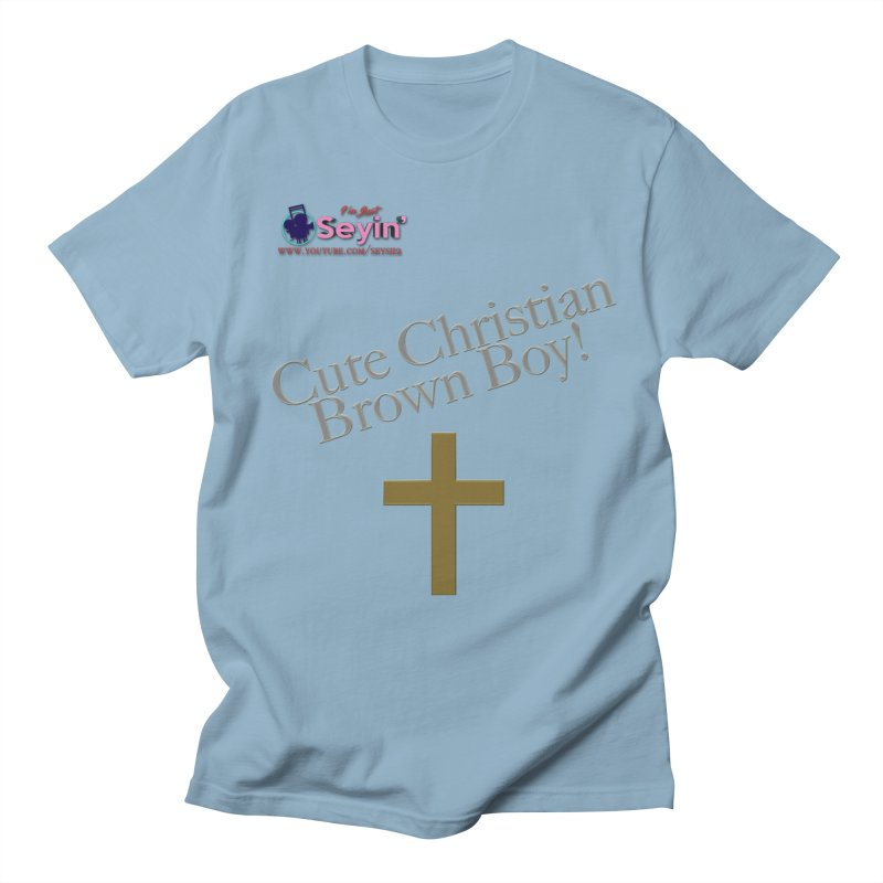 Cute Christian Brown Boy 2 Women's Regular Unisex T-Shirt by I'm Just Seyin' Shoppe