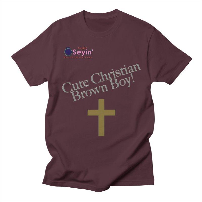 Cute Christian Brown Boy 2 Men's Regular T-Shirt by I'm Just Seyin' Shoppe