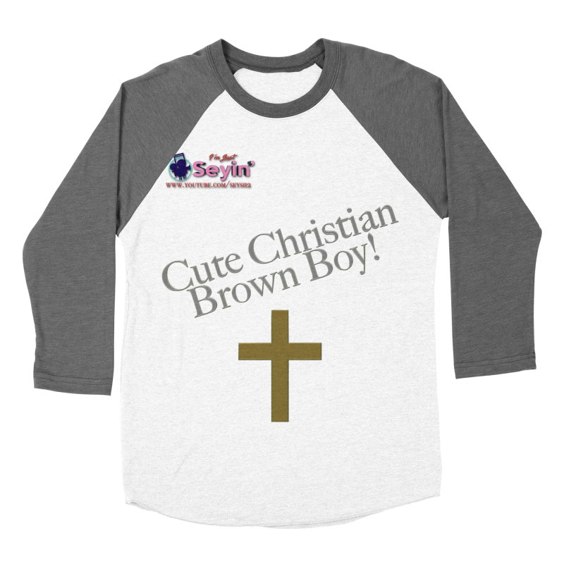 Cute Christian Brown Boy 2 Women's Longsleeve T-Shirt by I'm Just Seyin' Shoppe