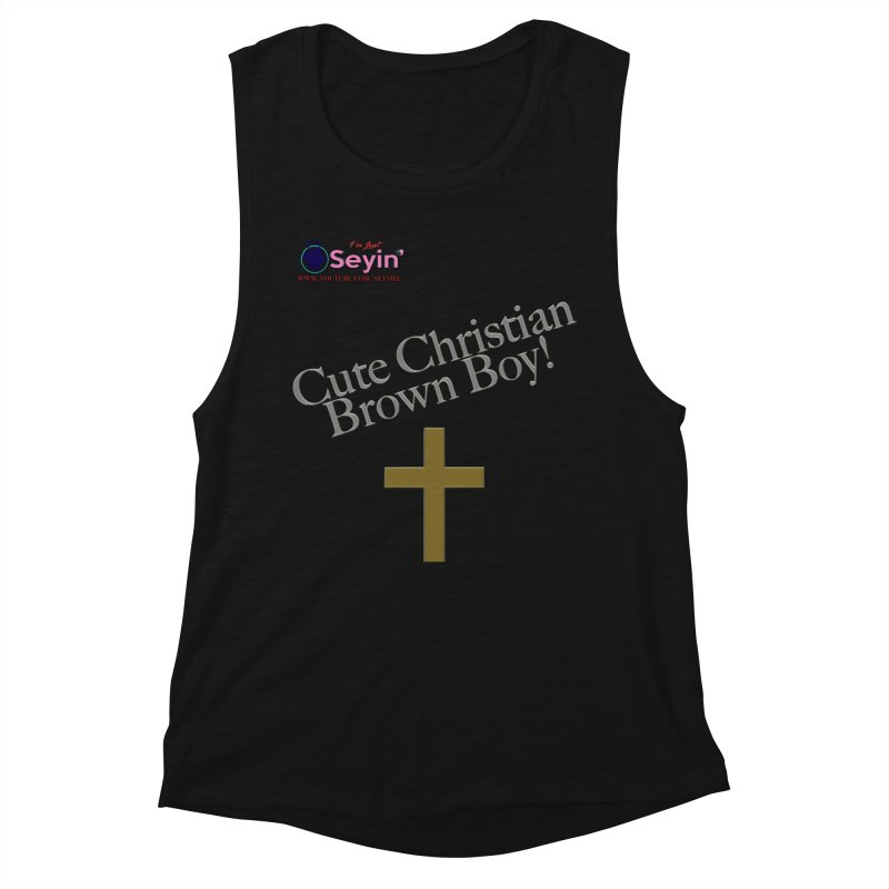 Cute Christian Brown Boy 2 Women's Tank by I'm Just Seyin' Shoppe