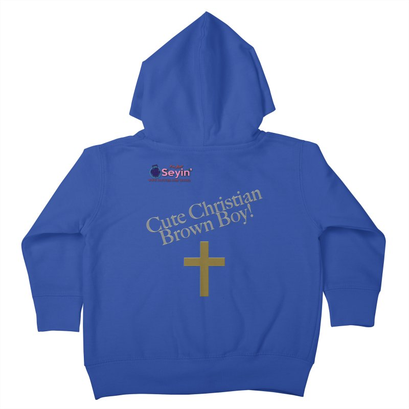 Cute Christian Brown Boy 2 Kids Toddler Zip-Up Hoody by I'm Just Seyin' Shoppe