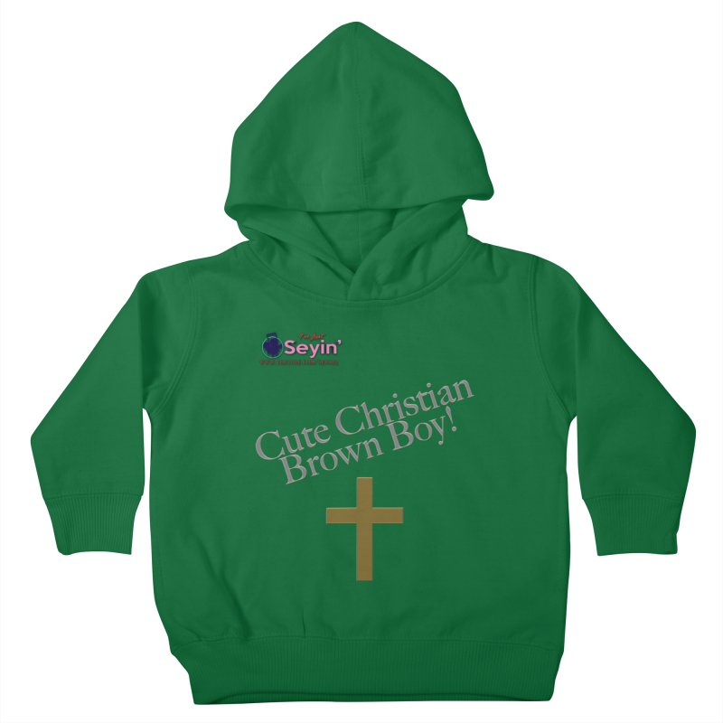 Cute Christian Brown Boy 2 Kids Toddler Pullover Hoody by I'm Just Seyin' Shoppe