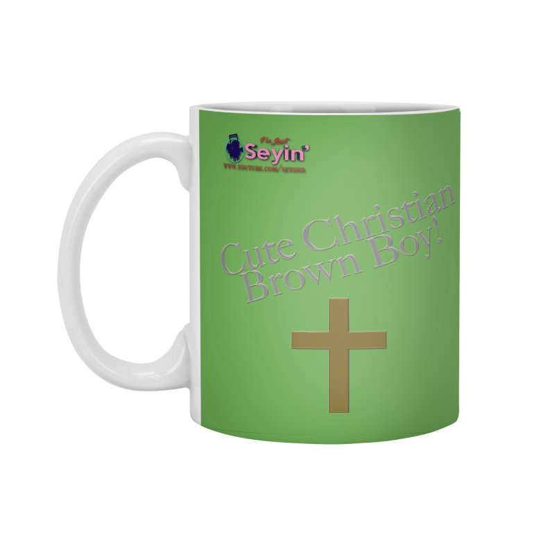 Cute Christian Brown Boy 2 Accessories Standard Mug by I'm Just Seyin' Shoppe