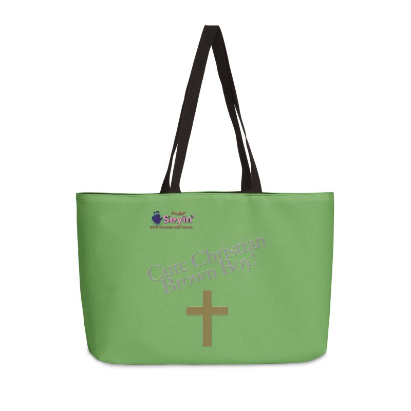 Cute Christian Brown Boy 2 Accessories Bag by I'm Just Seyin' Shoppe