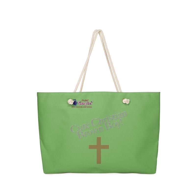 Cute Christian Brown Boy 2 Accessories Bag by I'm Just Seyin' Shoppe