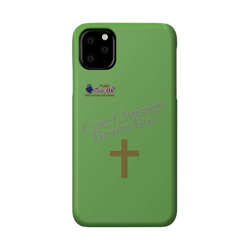 Cute Christian Brown Boy 2 Accessories Phone Case by I'm Just Seyin' Shoppe