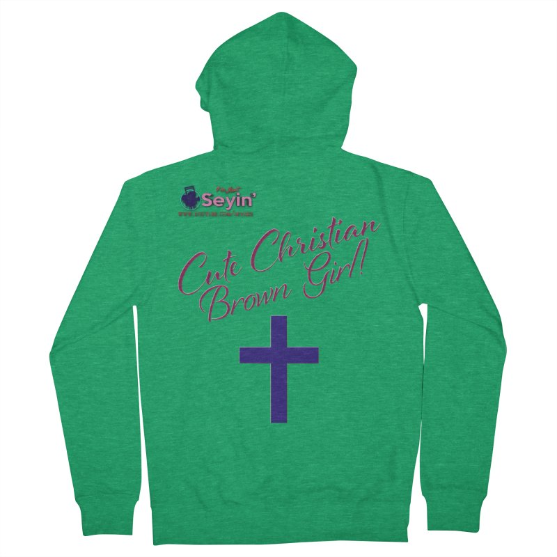 Cute Christian Brown Girl 2 Men's Zip-Up Hoody by I'm Just Seyin' Shoppe