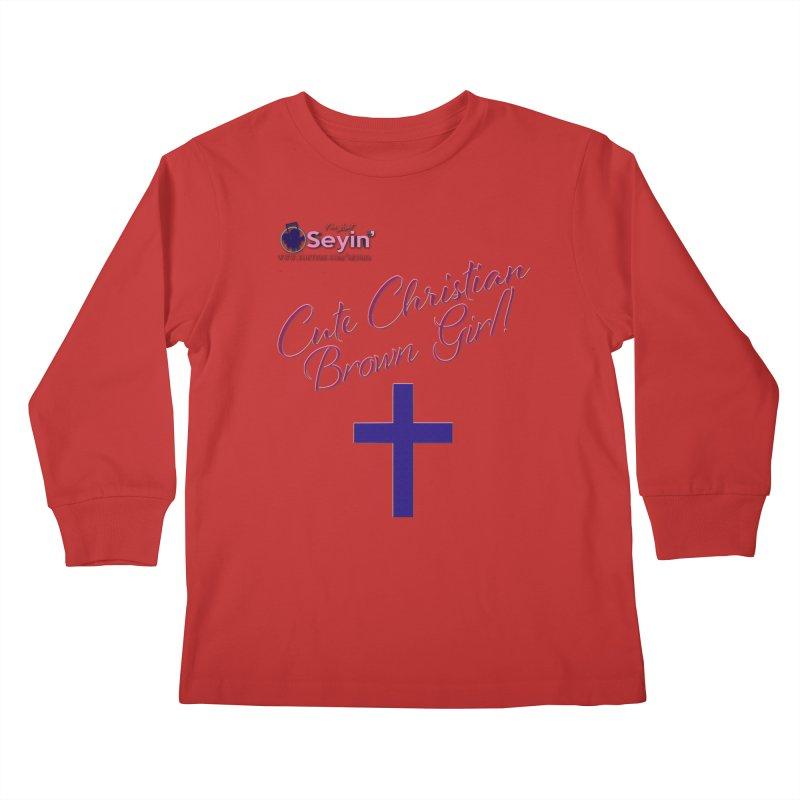Cute Christian Brown Girl 2 Kids Longsleeve T-Shirt by I'm Just Seyin' Shoppe