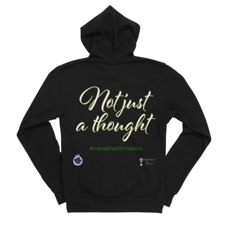 Not Just A Thought Men's Sponge Fleece Zip-Up Hoody by I'm Just Seyin' Shoppe