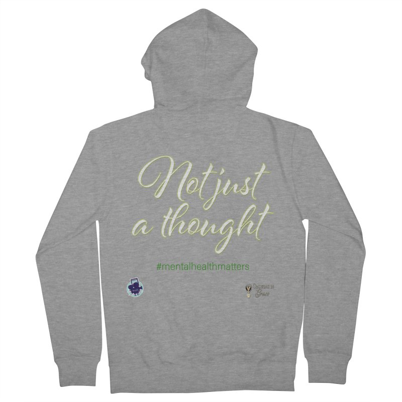 Not Just A Thought Men's French Terry Zip-Up Hoody by I'm Just Seyin' Shoppe