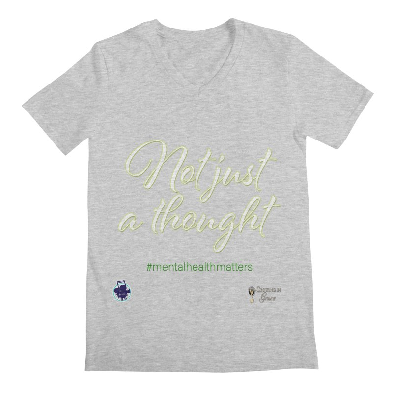 Not Just A Thought Men's Regular V-Neck by I'm Just Seyin' Shoppe