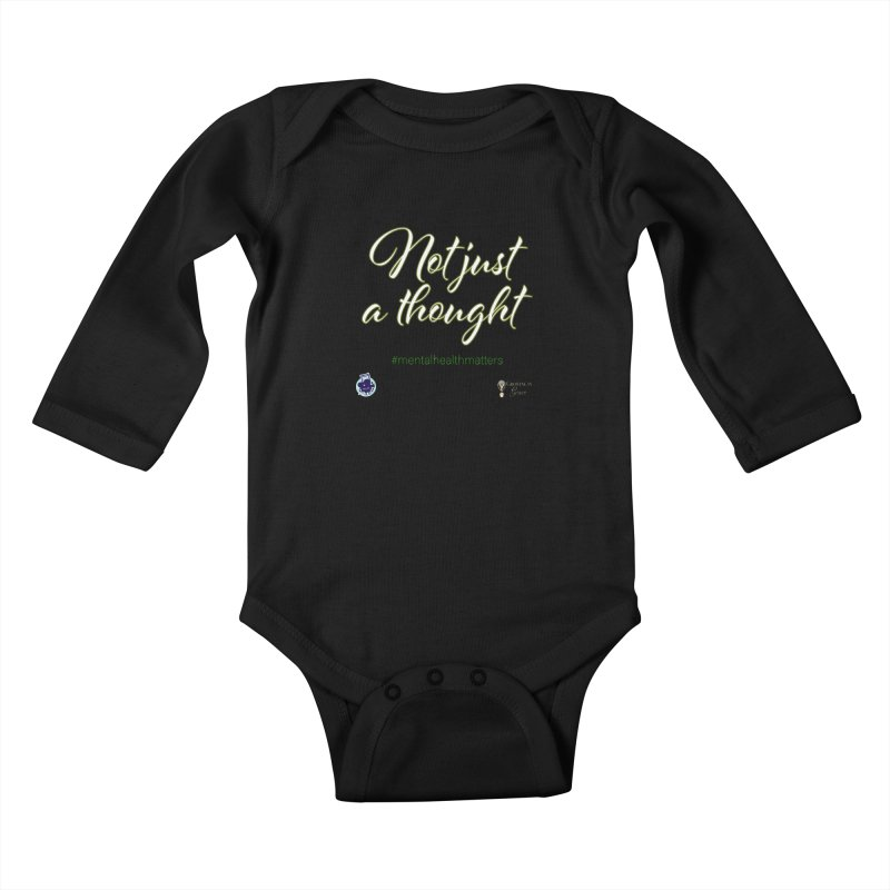 Not Just A Thought Kids Baby Longsleeve Bodysuit by I'm Just Seyin' Shoppe