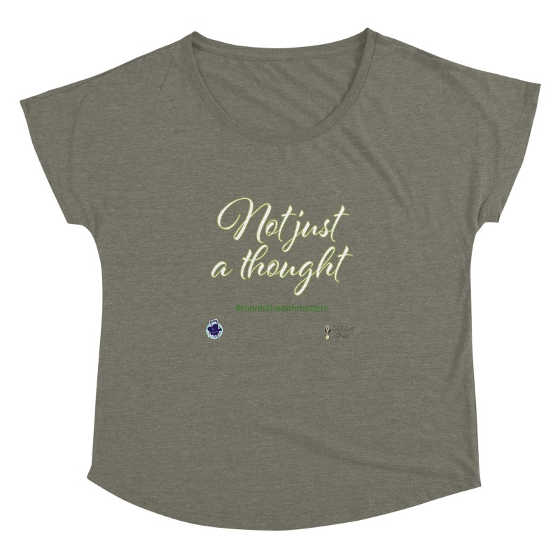 Not Just A Thought Women's Dolman Scoop Neck by I'm Just Seyin' Shoppe