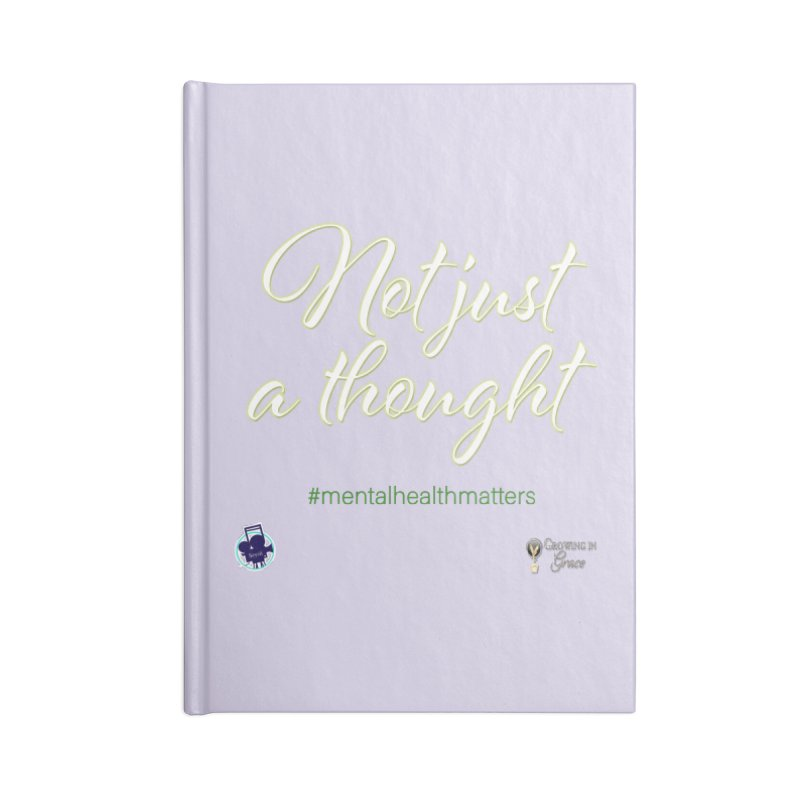 Not Just A Thought Accessories Lined Journal Notebook by I'm Just Seyin' Shoppe