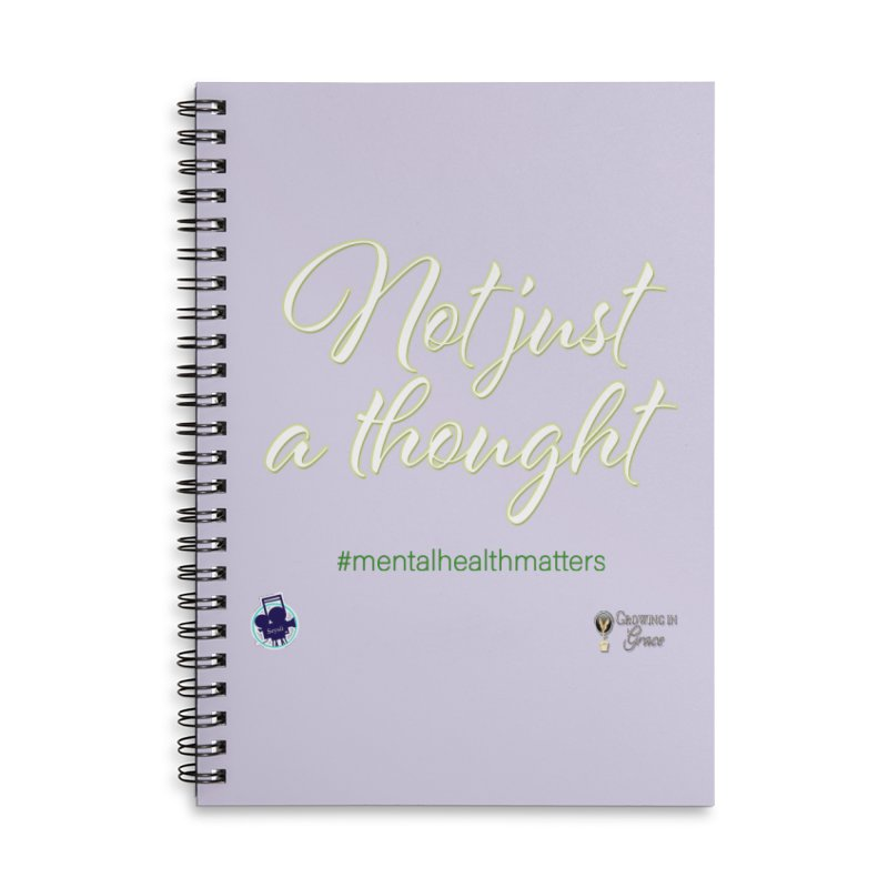 Not Just A Thought Accessories Lined Spiral Notebook by I'm Just Seyin' Shoppe