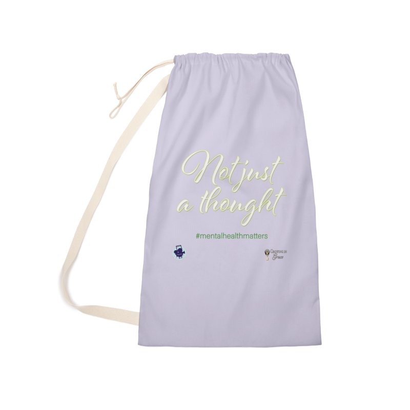 Not Just A Thought Accessories Laundry Bag Bag by I'm Just Seyin' Shoppe