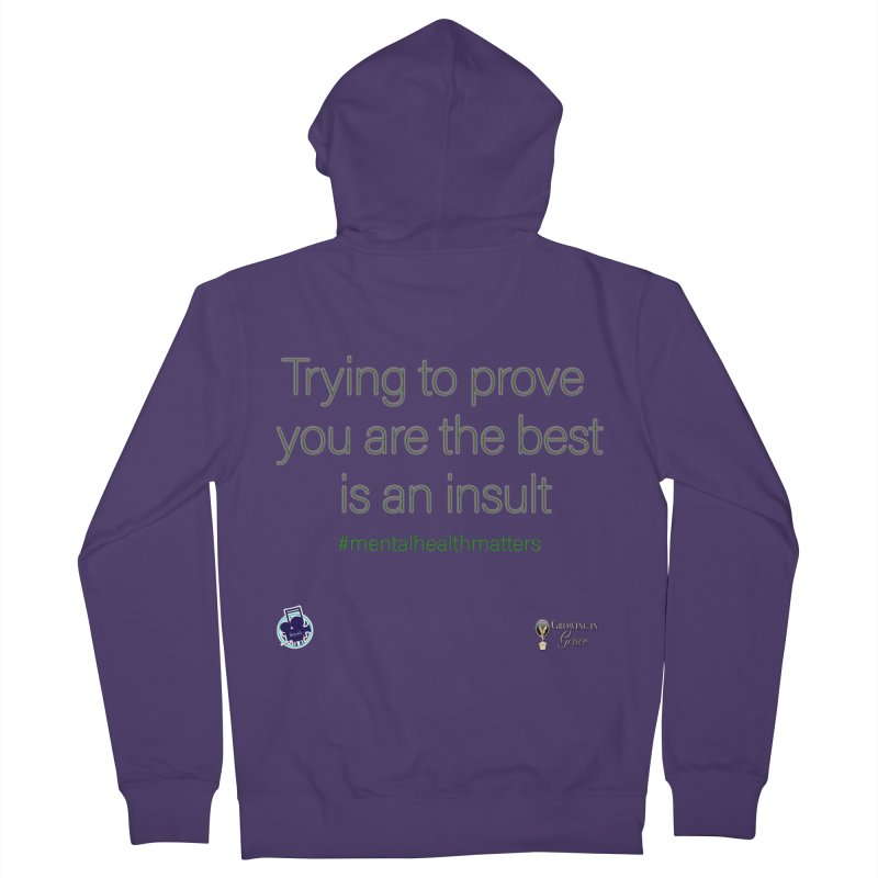 Insult Women's French Terry Zip-Up Hoody by I'm Just Seyin' Shoppe