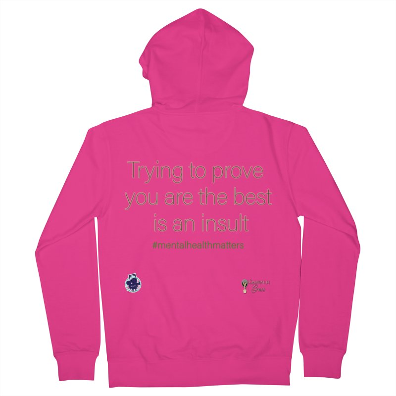 Insult Men's French Terry Zip-Up Hoody by I'm Just Seyin' Shoppe