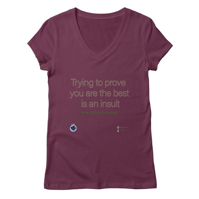 Insult Women's Regular V-Neck by I'm Just Seyin' Shoppe