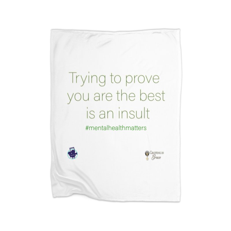 Insult Home Fleece Blanket Blanket by I'm Just Seyin' Shoppe