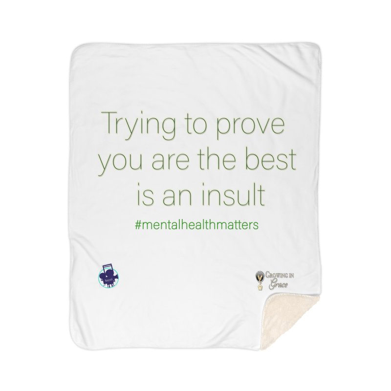 Insult Home Sherpa Blanket Blanket by I'm Just Seyin' Shoppe