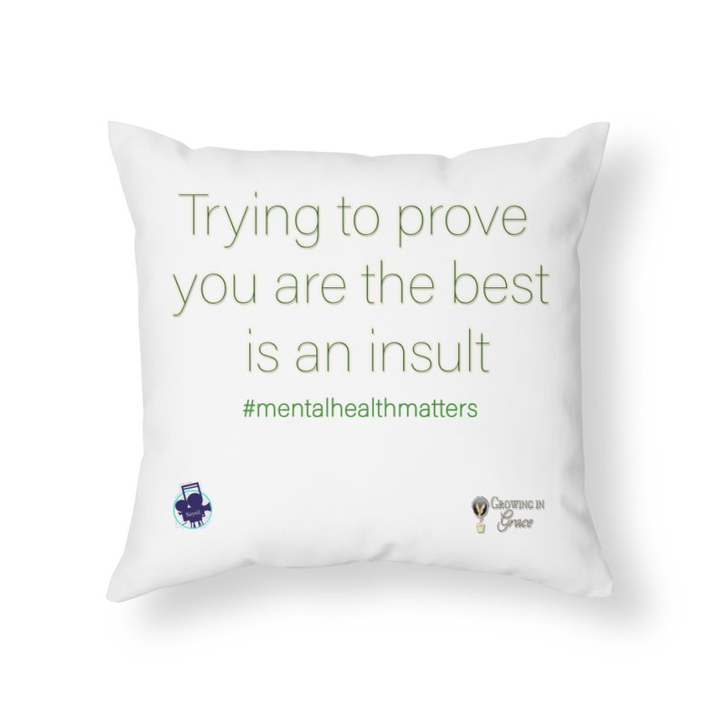 Insult Home Throw Pillow by I'm Just Seyin' Shoppe