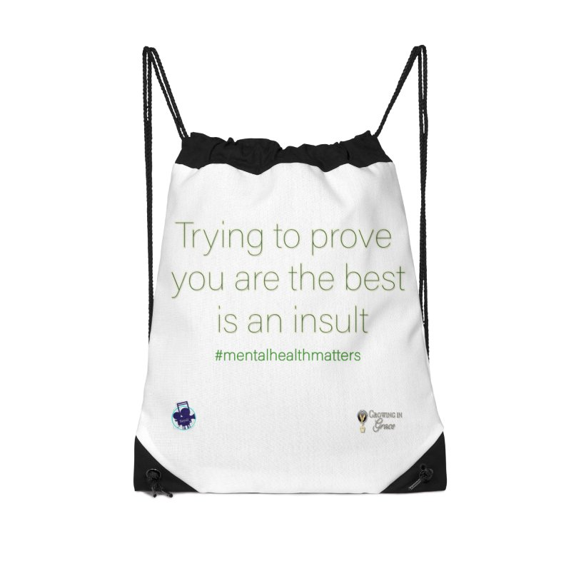 Insult Accessories Drawstring Bag Bag by I'm Just Seyin' Shoppe