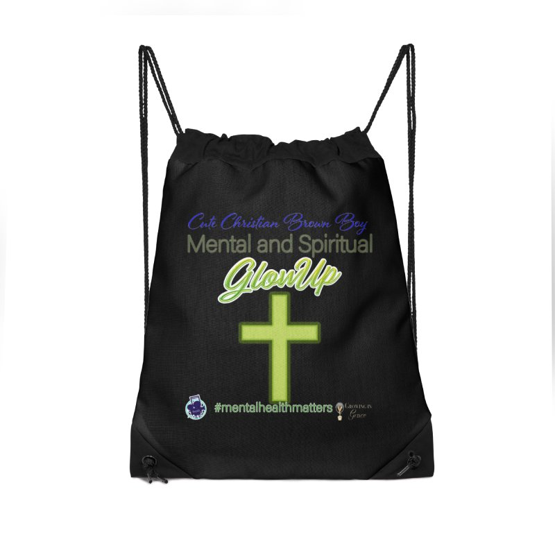 CCBB GlowUp Accessories Drawstring Bag Bag by I'm Just Seyin' Shoppe