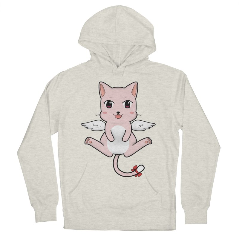 Flying pink cat Women's French Terry Pullover Hoody by Shadee's cute shop