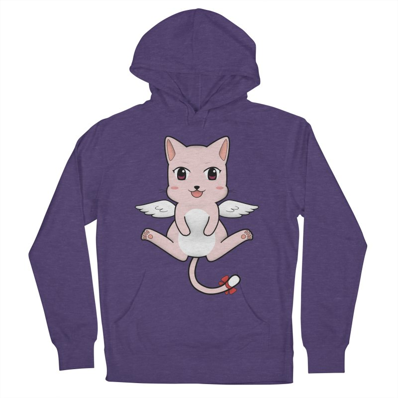Flying pink cat Men's French Terry Pullover Hoody by Shadee's cute shop