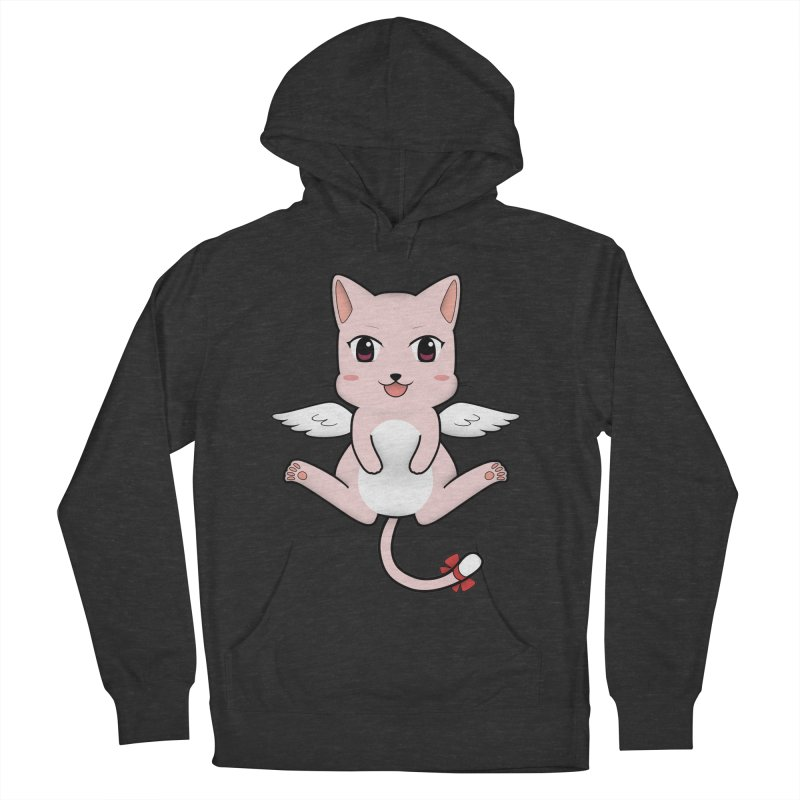 Flying pink cat Men's Pullover Hoody by Shadee's cute shop