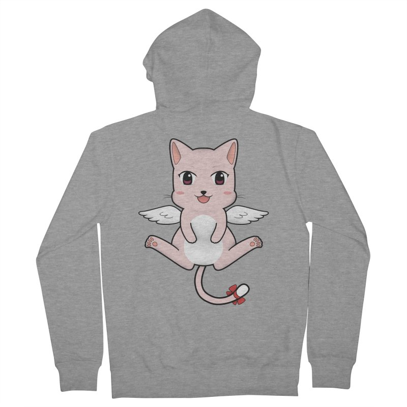 Flying pink cat Women's French Terry Zip-Up Hoody by Shadee's cute shop