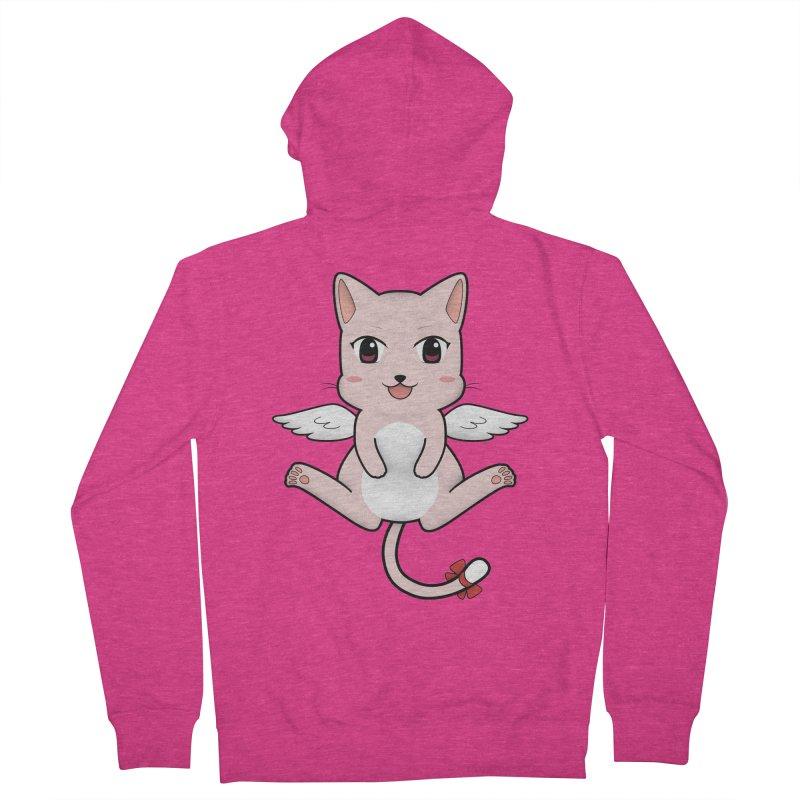 Flying pink cat Women's Zip-Up Hoody by Shadee's cute shop