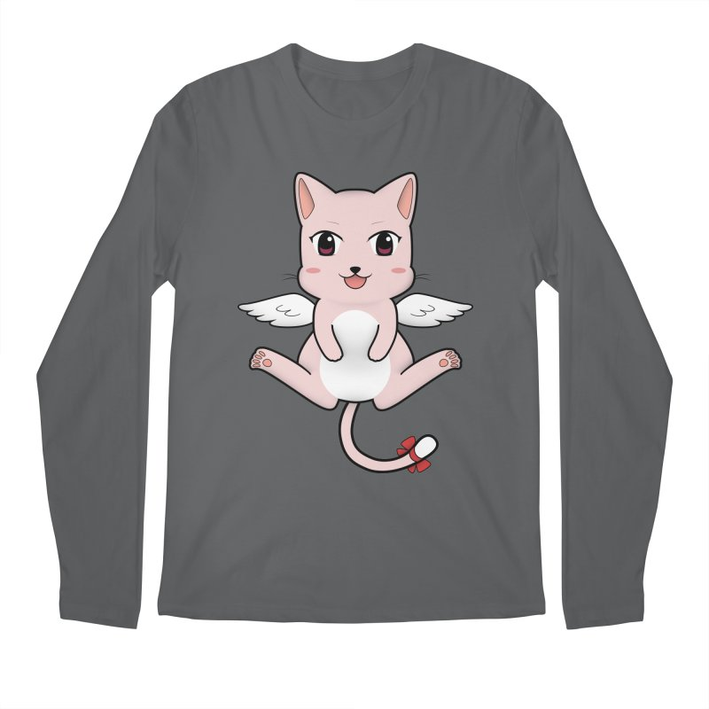 Flying pink cat Men's Regular Longsleeve T-Shirt by Shadee's cute shop