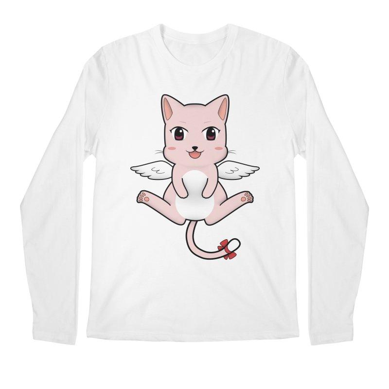 Flying pink cat Men's Regular Longsleeve T-Shirt by Shadee's cute shop