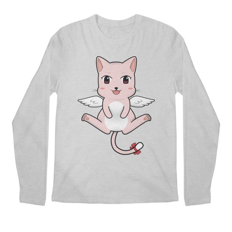 Flying pink cat Men's Longsleeve T-Shirt by Shadee's cute shop