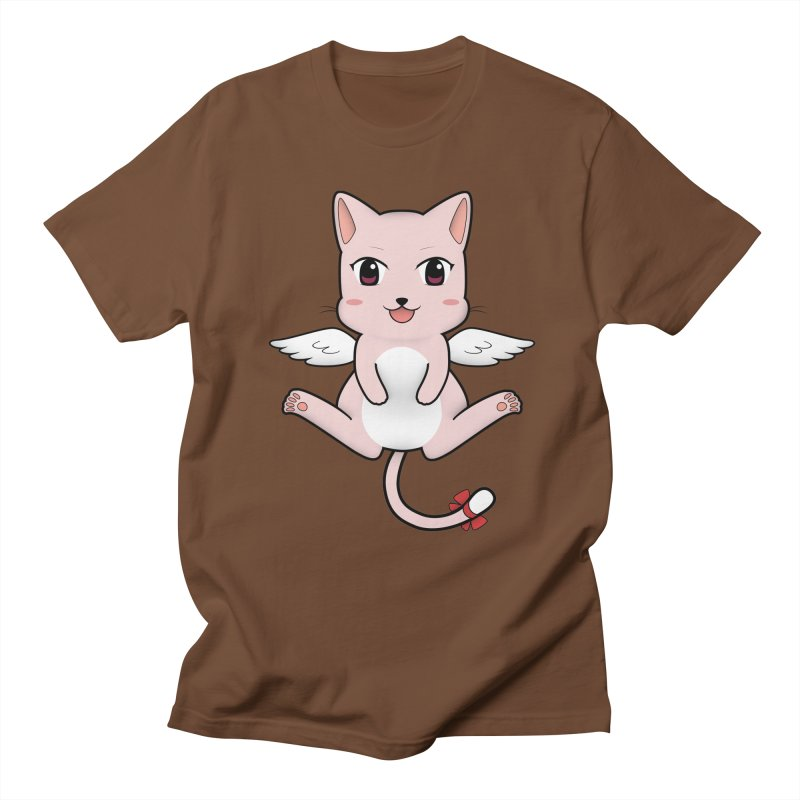 Flying pink cat Men's T-Shirt by Shadee's cute shop